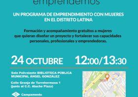 Presentación de Juntas Emprendemos Madrid en el distrito de Latina